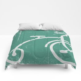 Grunge bicycle Comforters