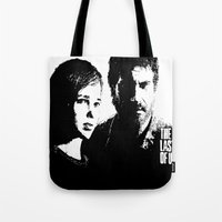 the last of us Tote Bags featuring The Last of Us  by Black And White Store