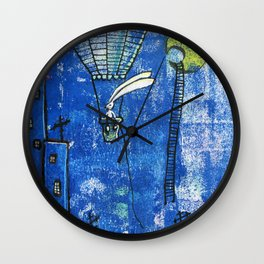 Superbunny on night duty Wall Clock