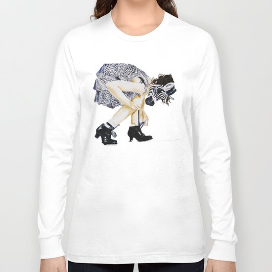 zebra girl Long Sleeve T-shirt