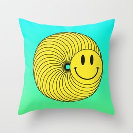 Smiley Ring Throw Pillow