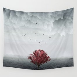 the RED tree ll Wall Tapestry