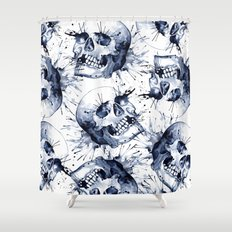 Skull Pattern Shower Curtain
