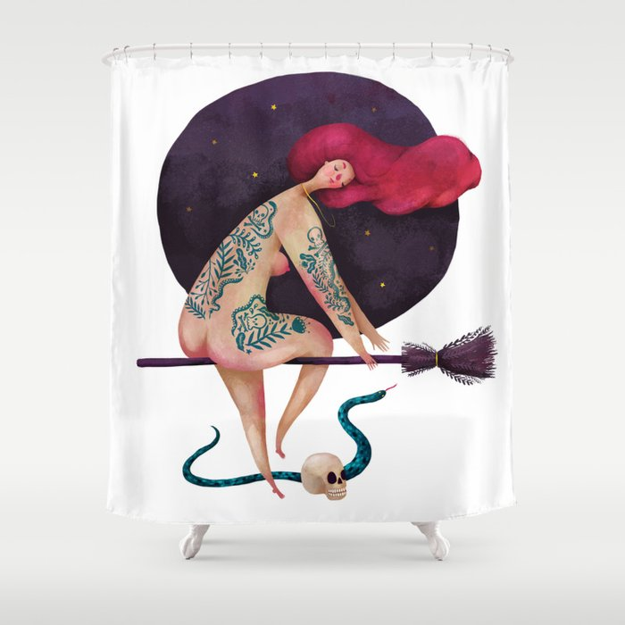 Sexy witch Shower Curtain
