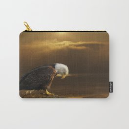 Gratitude - Bald Eagle At Prayer Carry-All Pouch