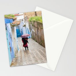 Rainy Day in Chefchaouen, The Blue City of Morocco Stationery Cards