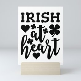 Irish At Heart Black Mini Art Print