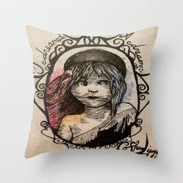 Cosette, I dreamed a dream Throw Pillow