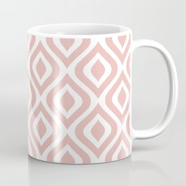 Mid Century Modern Diamond Ogee Pattern 131 Dusty Rose Coffee Mug