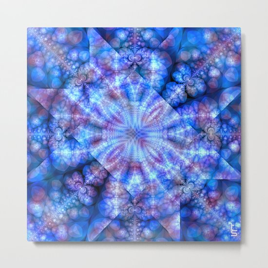 Fractal Imagination II Metal Print