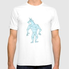 Crystal Warrior Unicorn White Mens Fitted Tee MEDIUM