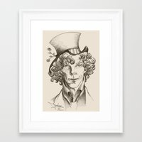 mad hatter Framed Art Prints featuring Mad Hatter by TheScienceofDepiction