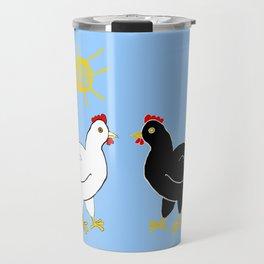 Hens and Sun Travel Mug