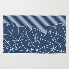 Ab Lines 45 Navy Rug