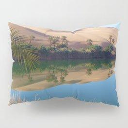 Gaberoun Oasis and Idehan Ubari Desert Dunes,  Libyan Sahara Pillow Sham
