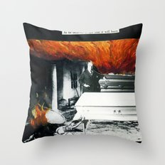 Total Post Mortum Immolation (funeral metal 3) Throw Pillow