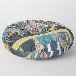 Interior with Etruscan Vase - Henri Matisse - Exhibition Poster Floor Pillow