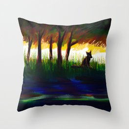 to still waters Throw Pillow