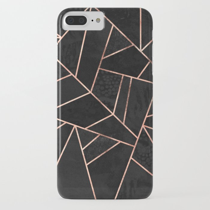 velvet black & rose gold iphone case