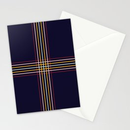 Filigree Retro Colored Lines Stationery Cards