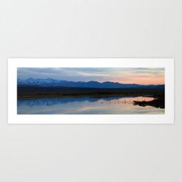 Cross Country American Landscapes - Sunsets, Clouds, Reflections, and Mountains Art Print