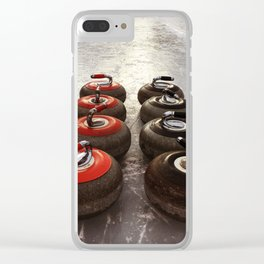 Curling on the lake Clear iPhone Case