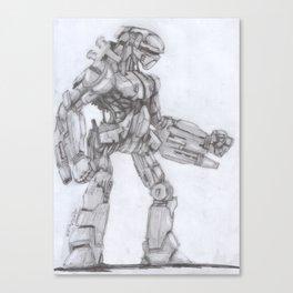 Robot Warrior Canvas Print