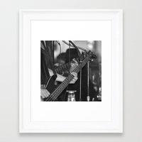 bass Framed Art Prints featuring Bass  by Sugar & Brownie