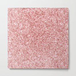 A Touch of Pink Glitter Metal Print