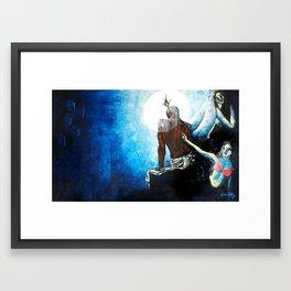 He must be Krishna! Framed Art Print