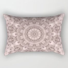 Pink marble kaleidoscope, ornament elements print Rectangular Pillow