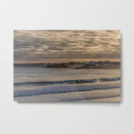 Sunbeams at Cape Hedge Beach Metal Print