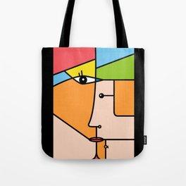 Rostros abstractos Tote Bag