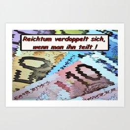 Reichtum. Art Print