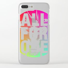 ALL FOR ONE Clear iPhone Case