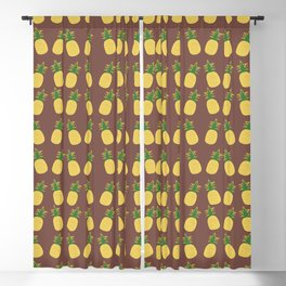 Terracotta Pineapple Cocktails Blackout Curtain