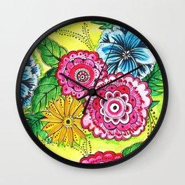 pretty little flowers Wall Clock