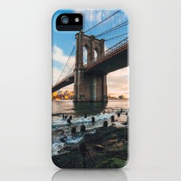 Late afternoon by Brooklyn Bridge iPhone Case