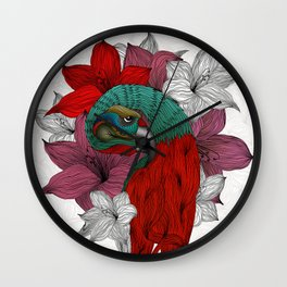 THE PARROT Wall Clock