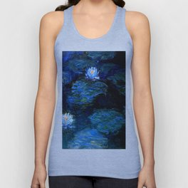 monet water lilies 1899 blue Teal Unisex Tank Top