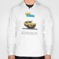 taxi driver Hoodies featuring Taxi driver by Marta Colomer
