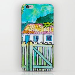 Green gate and the neighbors iPhone Skin