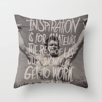 chuck Throw Pillows featuring CHUCK CLOSE by Josh LaFayette