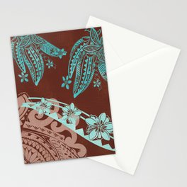 Samoan - Hawaiian - Polynesian Tribal Tapa Tropical Decor Stationery Cards