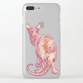 Skinny Cat Clear iPhone Case
