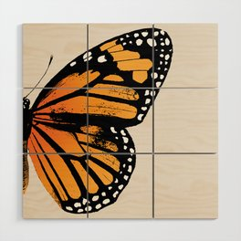 Monarch Butterfly | Right Wing Wood Wall Art