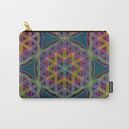 The Flower of Life (Sacred Geometry) 5 Carry-All Pouch