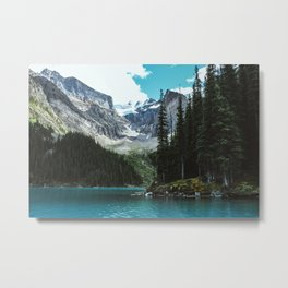 Canoeing in Moraine lake Metal Print