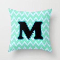 Letter M Throw Pillow