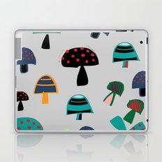 Cute Mushroom gray Laptop & iPad Skin